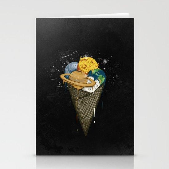 Galactic Ice Cream Stationery Cards