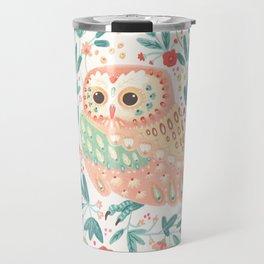 Little Pink Owl Travel Mug