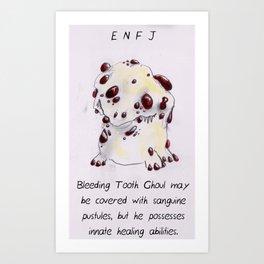 MBTI GHOSTS AND GHOULS - ENFJ Art Print