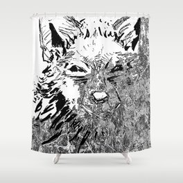 Wolf Art Shower Curtain