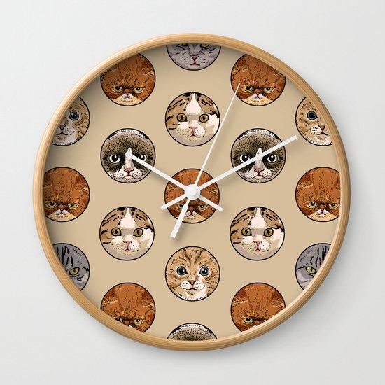 Polka Meaw Wall Clock
