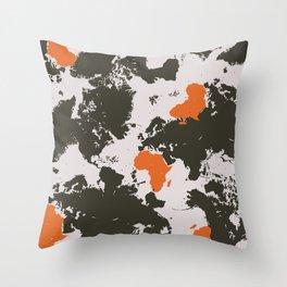 world map, Africa Throw Pillow