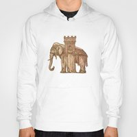 bastille Hoodies featuring Elephant Bastille by Bluepress