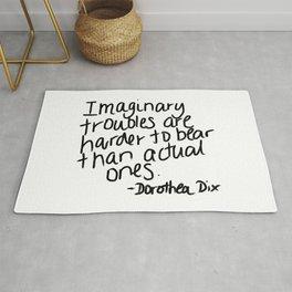 Imaginary troubles - Dorothea Dix Rug