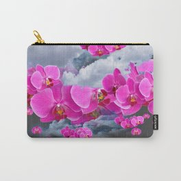PINK ORCHID FLOWERS CLOUDS & RAIN Carry-All Pouch