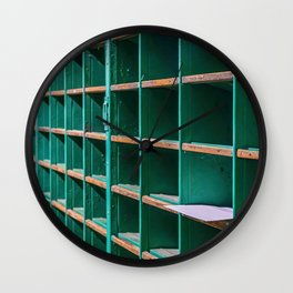One Letter Left in Old Mail Rack Wall Clock