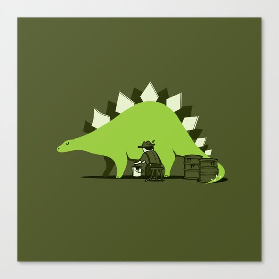 Crude oil comes from dinosaurs Canvas Print