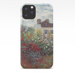 Claude Monet - The Artist's Garden in Argenteuil, A Corner of the Garden with Dahlias iPhone Case