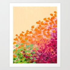 CREATION IN COLOR Autumn Infusion - Colorful Abstract Acrylic Painting Fall Splash Ombre Ocean Waves Art Print