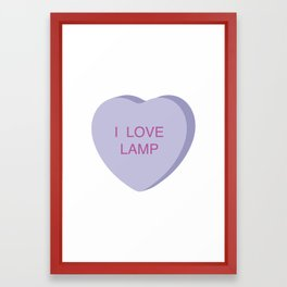 Brick Tamland Conversation Heart Framed Art Print