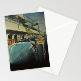 Vintage Racer in the Pits Stationery Cards