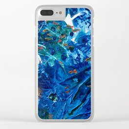 Rainbow Fish Swim, Environmental Tiny World Collection Clear iPhone Case