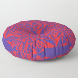 Think Tiled - Purple Red Floor Pillow