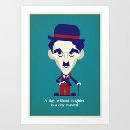 Charlie Chaplin POP art Art Print