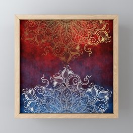 Mandala - Fire & Ice Framed Mini Art Print