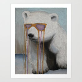 Coked Out Bear, not the soft drink Art Print