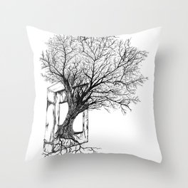 Replacing Nature with Knowledge Throw Pillow