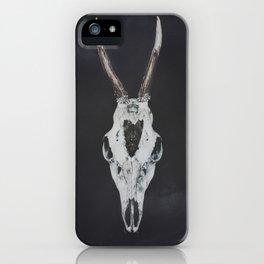 Roe Deer Skull with Death Hawk Moth iPhone Case