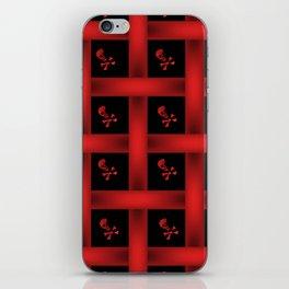 Skull Pattern Red iPhone Skin