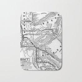 Vintage Map - New York Brooklyn–Manhattan Transit Corporation Route Map (1933) Bath Mat