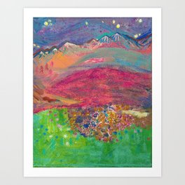Twilight at Rock Candy Mountain Art Print