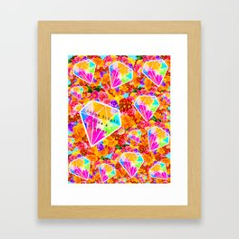 Shine Bright Like A Diamond Collage Framed Art Print