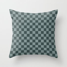 Checkerboard Pattern Inspired By Night Watch PPG1145-7 & Scarborough Green PPG1145-5 Throw Pillow