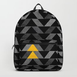Triangle -Yellow and Grey Backpack