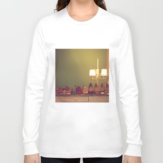 Dancing Shoes and Heels (retro and vintage girly shoes and heels with a lovely lamp) Long Sleeve T-shirt