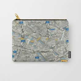 Illustrated map of Berlin-Mitte. Green Carry-All Pouch