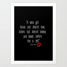 Esperantos Quotes #1 (Marilyn) Art Print