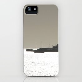 Silver harbor iPhone Case