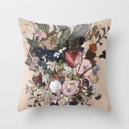Bouquet de fleurs sauvages Throw Pillow