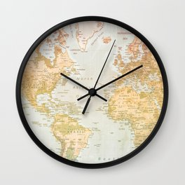 Pastel World Wall Clock