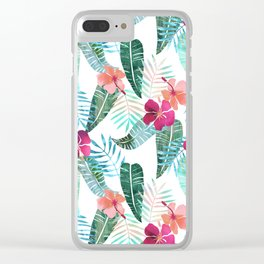Island Goddess Tropical White Clear iPhone Case