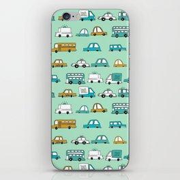 Cars trucks buses city highway transportation illustration cute kids room gifts iPhone Skin