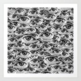 #million #eyes Art Print