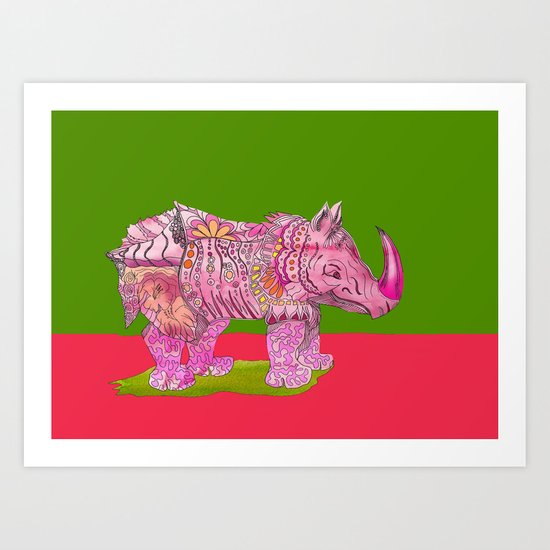 Too Pretty in Pink  Art Print