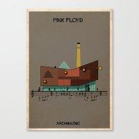 floyd Canvas Prints featuring Pink Floyd by federico babina