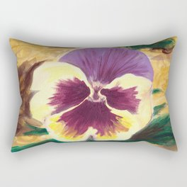 Pretty Pansy Rectangular Pillow