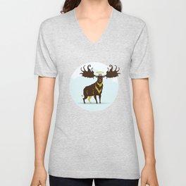 God's Zoo: Irish Elk Unisex V-Neck