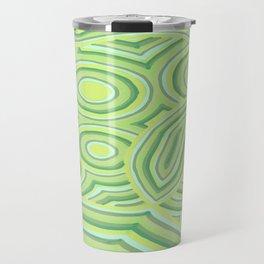 Green Color Burst Travel Mug