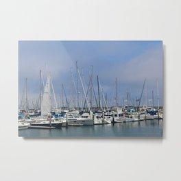 Boat Pier Metal Print