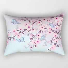 Cherry Blossoms Landscape Rectangular Pillow