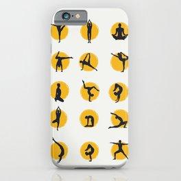 Sunset yoga iPhone Case