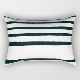 Abstract geometrical hand painted brushstrokes stripes Rectangular Pillow
