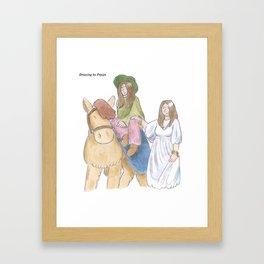 Hippy Sisters Framed Art Print