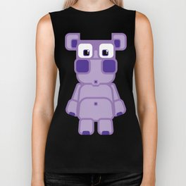 Super cute cartoon purple pig - bring home the bacon with everything for the pig enthusiasts! Biker Tank