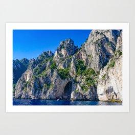 The White Grotto of the island of Capri, Italy off Naples and the Amalfi Coast Art Print