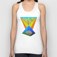 racoon Tank Tops featuring Crystal Racoon by Cariann Dominguez